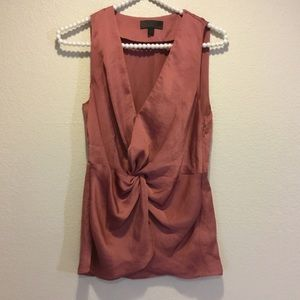 Banana Republic Mauve Pink Sleeveless Blouse 0